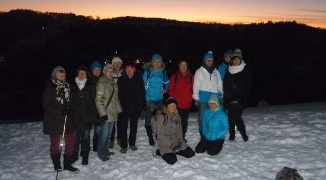 Winterwanderung der Damengymnastik und Zumba Ingrid am 05.01.2015
